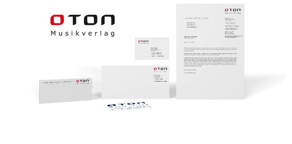 Corporate Design für den OTON Musikverlag