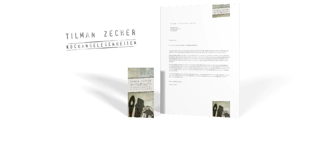Corporate Design für den Koch Tilman Zecher