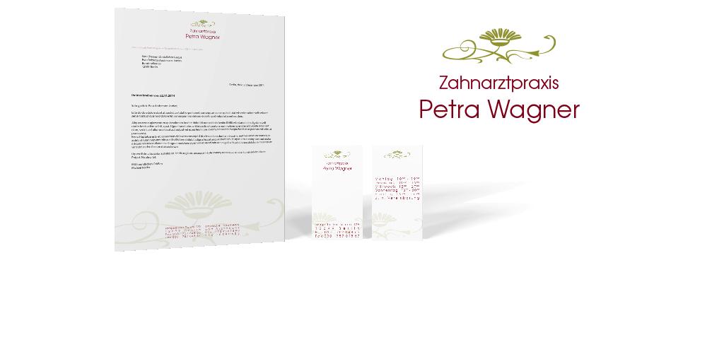Corporate Design für die Zahnarztpraxis Petra Wagner
