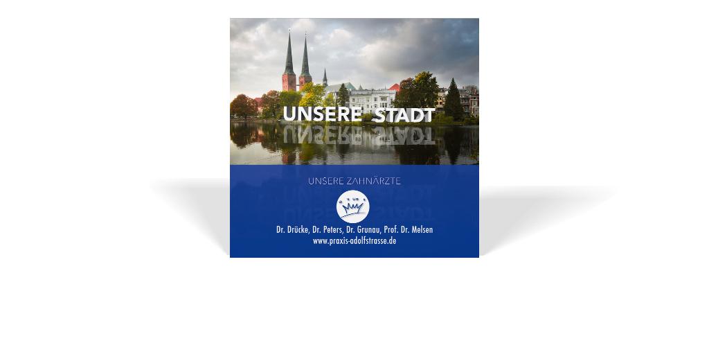 Print-Anzeige für die Lübecker Praxis Adolfstraße