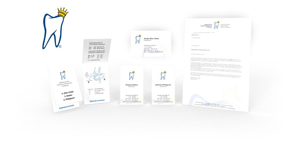 Corporate Design für die Zahnärztliche Gemeinschaftspraxis Friedenau